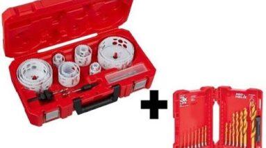 Milwaukee 20pc Hole Dozier and 15pc Titanium Drill Bit Set
