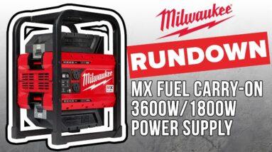 Milwaukee MX FUEL CARRY-ON Power Supply RUNDOWN