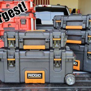 "RIDGID 28"" Rolling Mobile Job Box Model# 249646 | Modular Tool Box Compatible with 22"" Pro Gear"