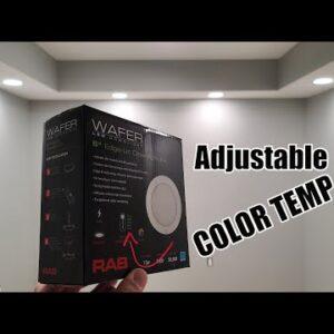 Vault Room Project Lighting |  RAB Canless Adjustable Color Temp Recessed Downlights Retrofit