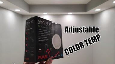 Vault Room Project Lighting    RAB Canless Adjustable Color Temp Recessed Downlights Retrofit