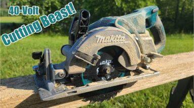 "Makita 40V XGT Brushless Rear Handle 7-1/4"" Circular Saw Review GSR01M1 | Mind Blown!"